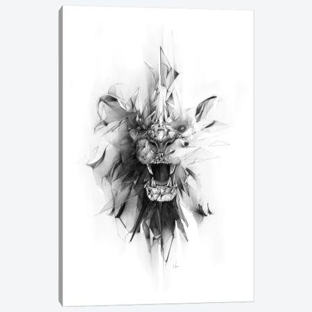 Stone Lion Canvas Print #AMU35} by Alexis Marcou Canvas Print