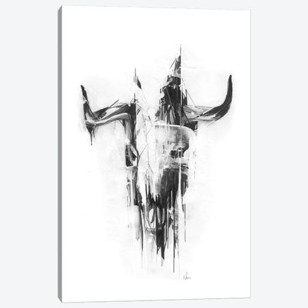 Bull Skull Canvas Print #AMU43} by Alexis Marcou Canvas Print