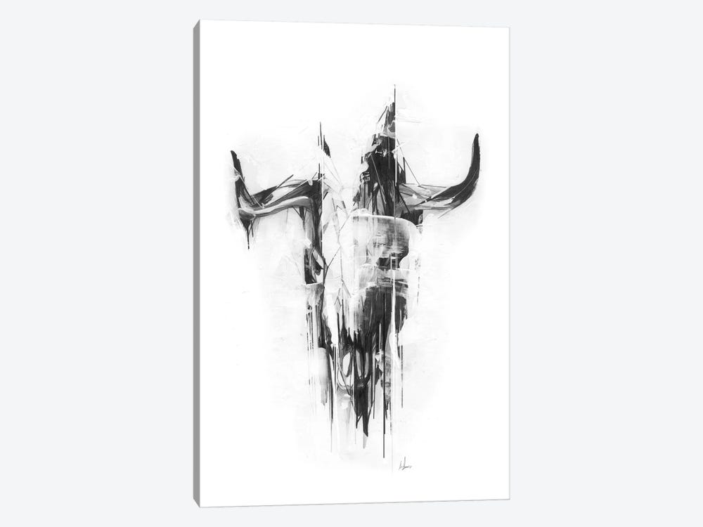 Bull Skull by Alexis Marcou 1-piece Canvas Art Print