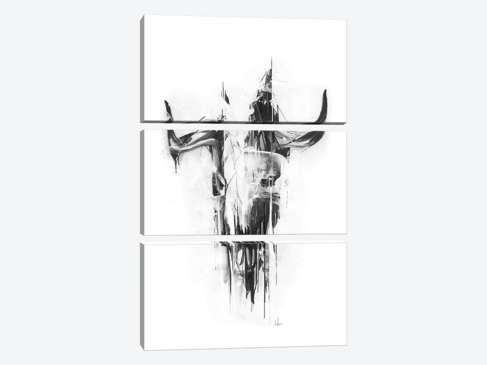 Bull Skull by Alexis Marcou 3-piece Canvas Print