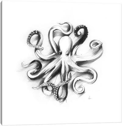 Flat Octopus Canvas Art Print