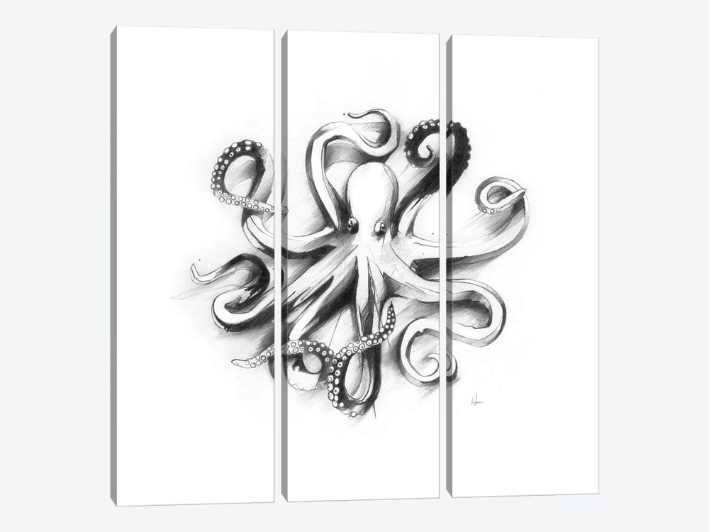 Flat Octopus by Alexis Marcou 3-piece Art Print