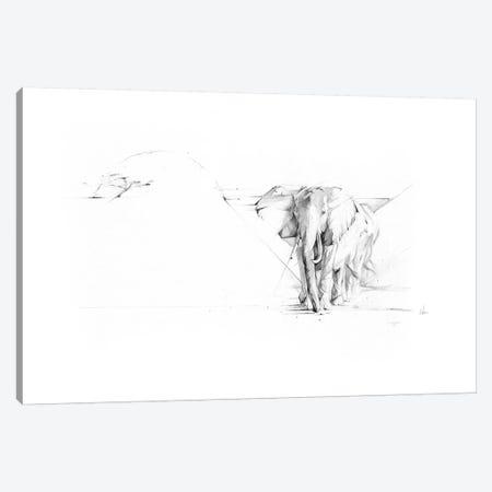 Elephant Parade Canvas Print #AMU55} by Alexis Marcou Art Print