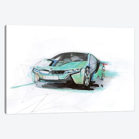 I8 Green Canvas Print #AMU58} by Alexis Marcou Canvas Wall Art