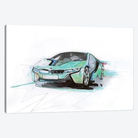 i8 Green 3-Piece Canvas #AMU58} by Alexis Marcou Canvas Wall Art