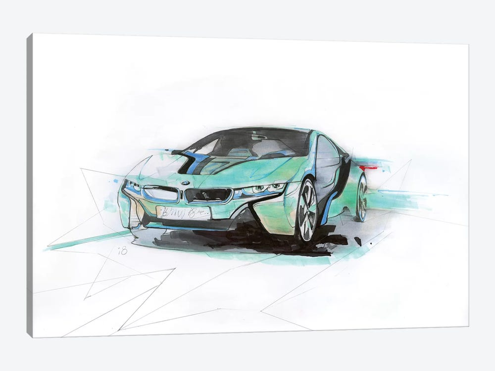 i8 Green by Alexis Marcou 1-piece Canvas Print