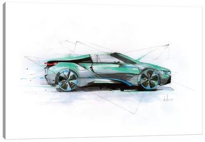 i8 Green Profile Canvas Art Print