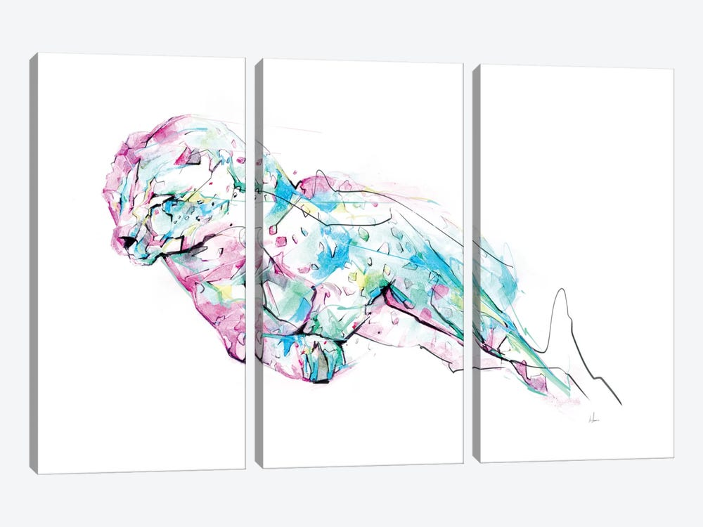 Chetah by Alexis Marcou 3-piece Canvas Art