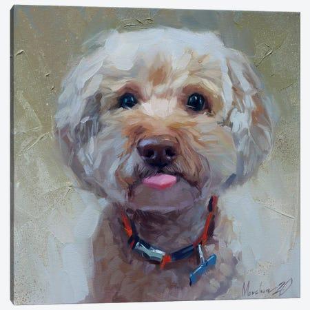 Little Cute Dog Canvas Print #AMV15} by Alex Movchun Canvas Art