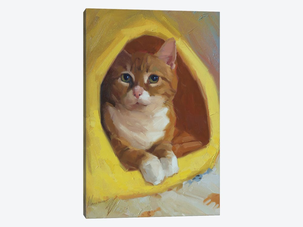 Red Cat 1-piece Canvas Print