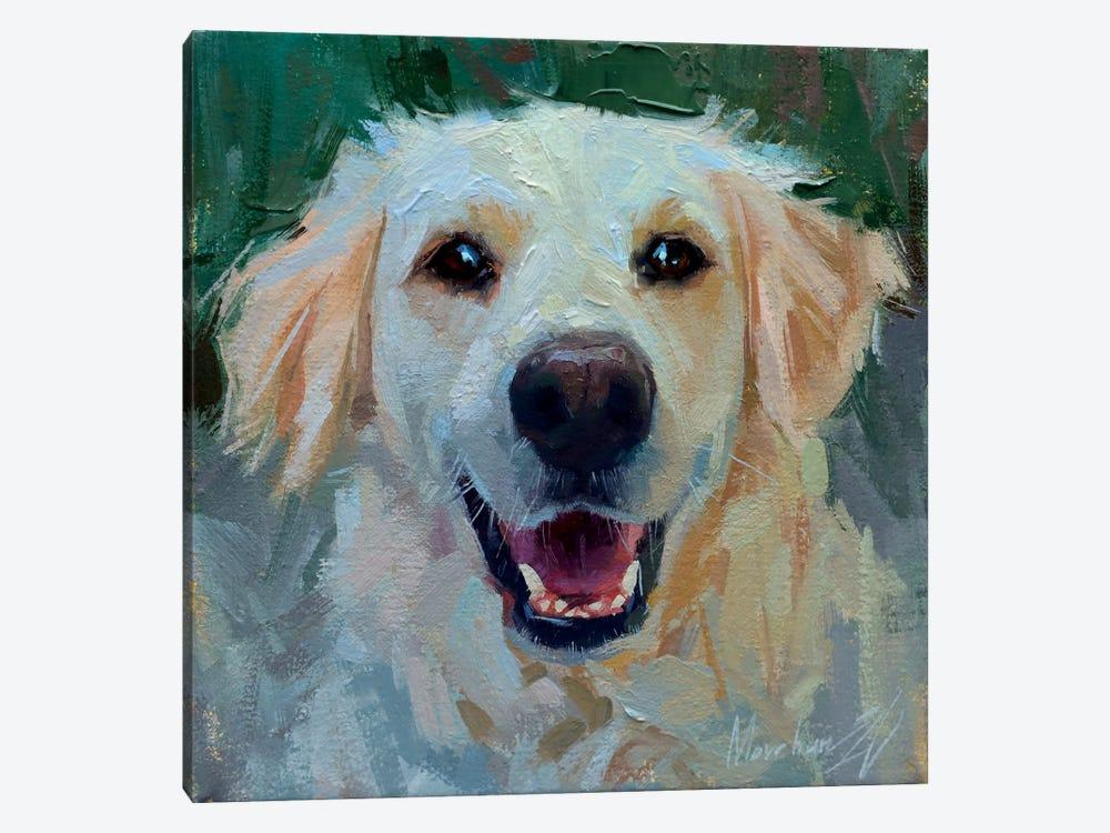 White Labrador by Alex Movchun 1-piece Canvas Art
