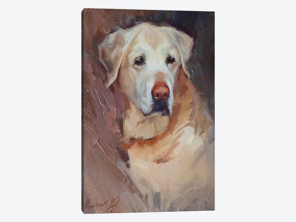Yellow Labrador by Alex Movchun 1-piece Art Print