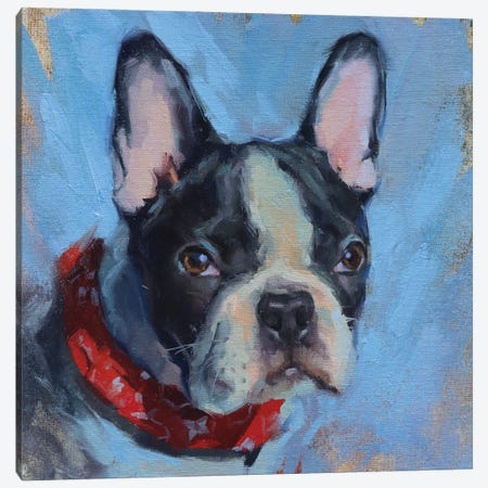 French Bulldog Canvas Print #AMV9} by Alex Movchun Canvas Art