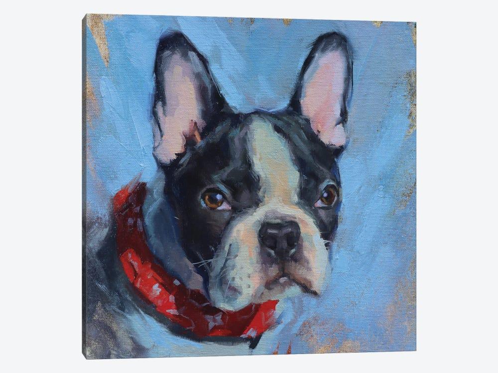 French Bulldog by Alex Movchun 1-piece Canvas Print