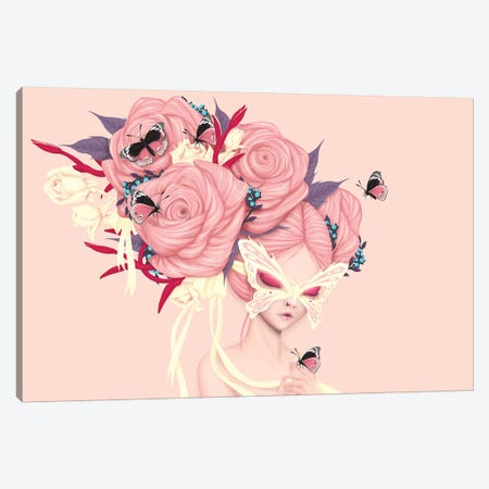 Fairy Rose Canvas Print #AMW11} by Anne Martwijit Canvas Art
