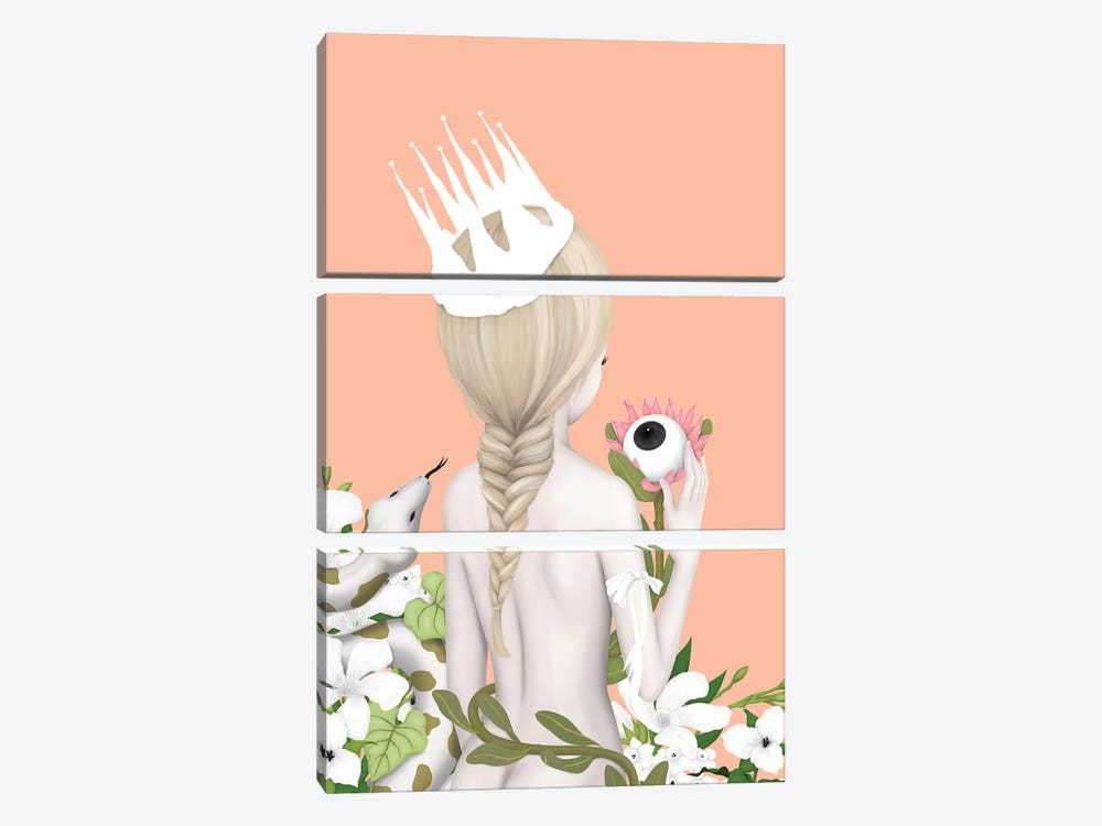 The White Witch by Anne Martwijit 3-piece Canvas Print