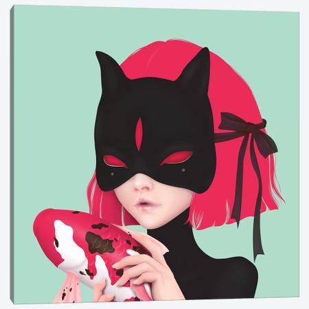 Black Cat 3-Piece Canvas #AMW4} by Anne Martwijit Canvas Artwork