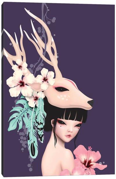 Deer Horn Canvas Art Print