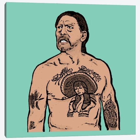 Danny Trejo Canvas Print #AMY60} by Amy May Pop Art Canvas Print