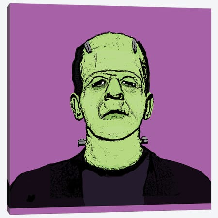 Frankenstein Monster Canvas Print #AMY64} by Amy May Pop Art Canvas Art