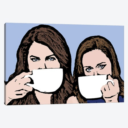 Gilmore Girls Canvas Print #AMY67} by Amy May Pop Art Canvas Artwork
