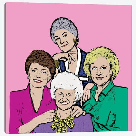 Golden Girls Canvas Print #AMY68} by Amy May Pop Art Canvas Print