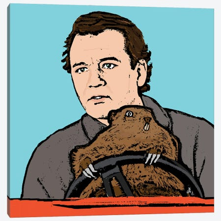 Groundhog Day Canvas Print #AMY69} by Amy May Pop Art Art Print