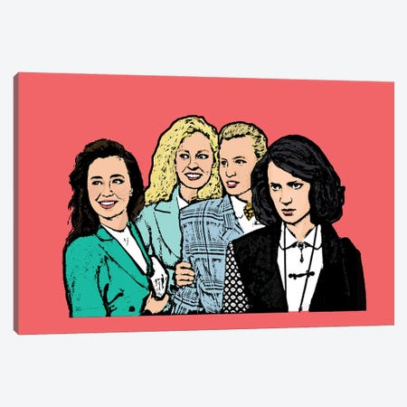 Heathers Canvas Print #AMY71} by Amy May Pop Art Canvas Wall Art
