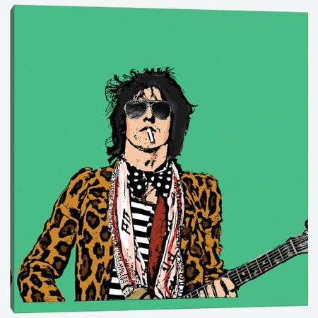 Keith Richards Canvas Print #AMY75} by Amy May Pop Art Canvas Art Print