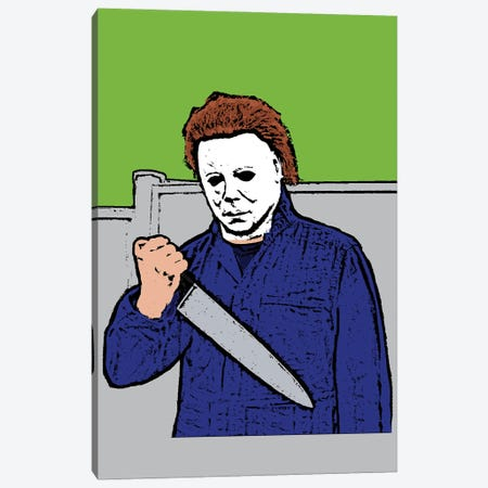 Michael Myers Canvas Print #AMY81} by Amy May Pop Art Canvas Print