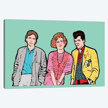 Pretty In Pink Canvas Print #AMY84} by Amy May Pop Art Canvas Wall Art
