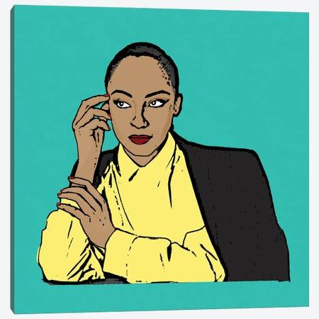 Sade Canvas Print #AMY88} by Amy May Pop Art Canvas Print
