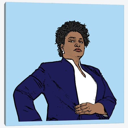 Stacey Abrams Canvas Print #AMY92} by Amy May Pop Art Canvas Art