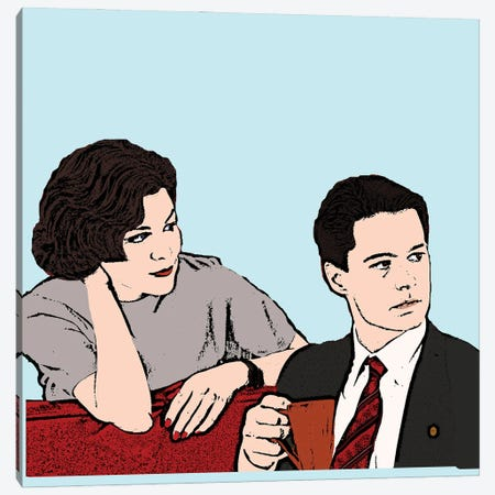Twin Peaks Canvas Print #AMY94} by Amy May Pop Art Canvas Print