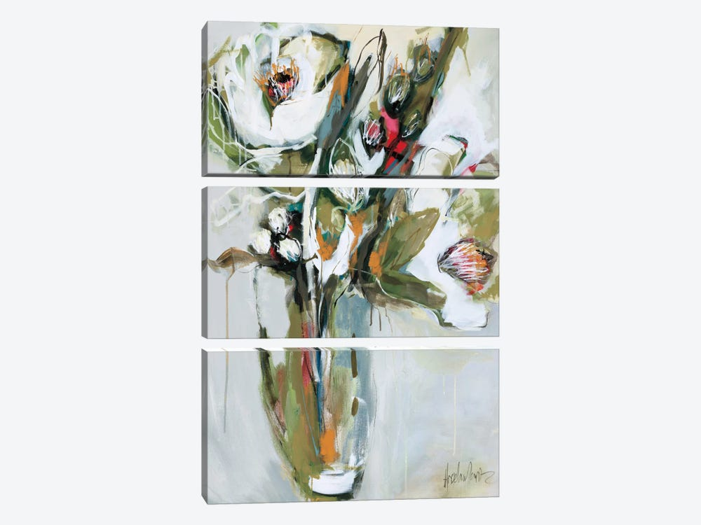 Blooming In November  by Angela Maritz 3-piece Canvas Art Print