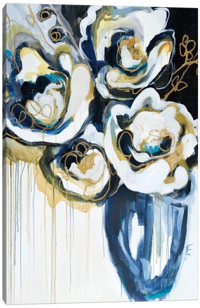 Blooms In Sea Foam Canvas Art Print
