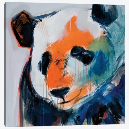 Call Me Pand Canvas Print #AMZ7} by Angela Maritz Art Print