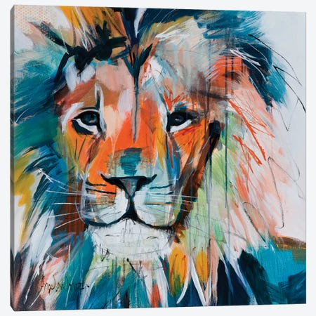 Do You Want My Lions Share Canvas Print #AMZ8} by Angela Maritz Canvas Wall Art