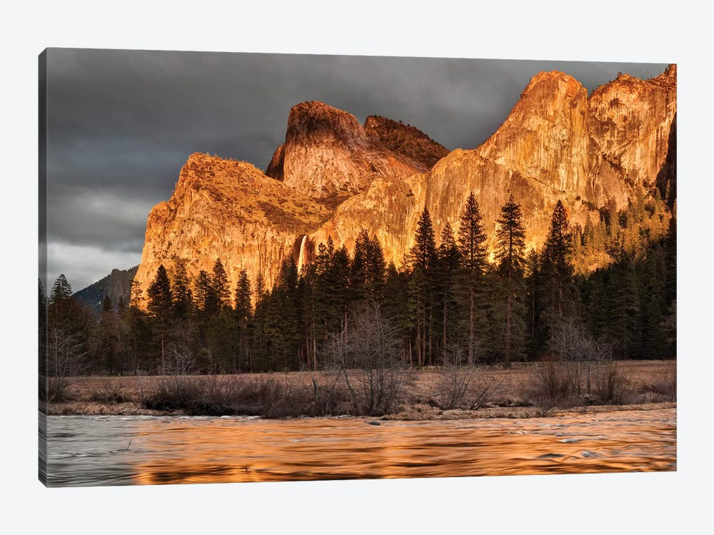 USA, California, Yosemite National Park, Bridalveil Falls at sunset I by Ann Collins 1-piece Canvas Art
