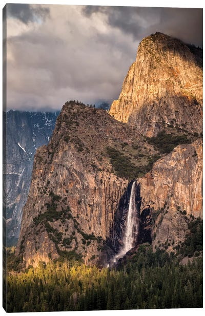 USA, California, Yosemite National Park, Bridalveil Falls at sunset II Canvas Art Print