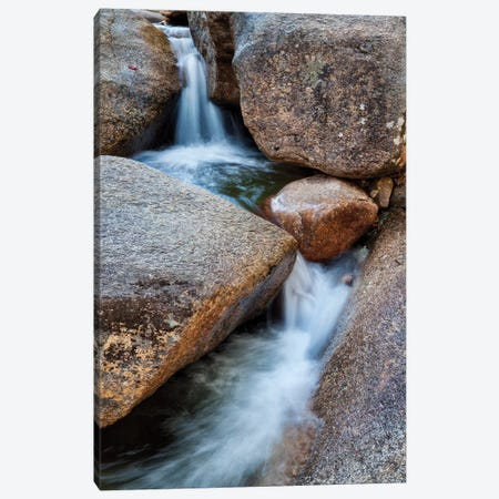 USA, New Hampshire, White Mountains, Lucy Brook flows past granite rock II Canvas Print #ANC17} by Ann Collins Art Print