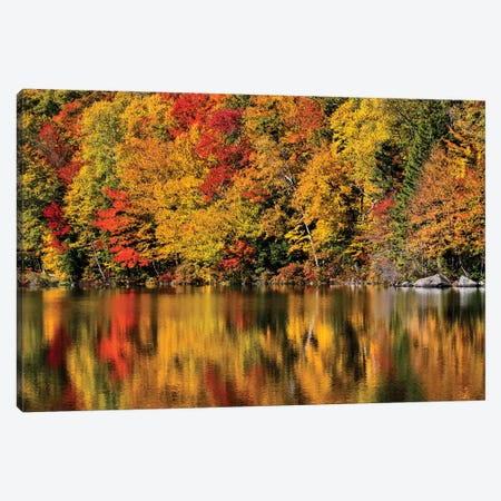 USA, New Hampshire, White Mountains, Reflections on Russell Pond Canvas Print #ANC20} by Ann Collins Canvas Print