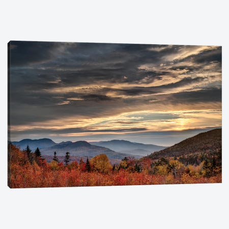 USA, New Hampshire, White Mountains, Sunrise from overlook Canvas Print #ANC21} by Ann Collins Art Print