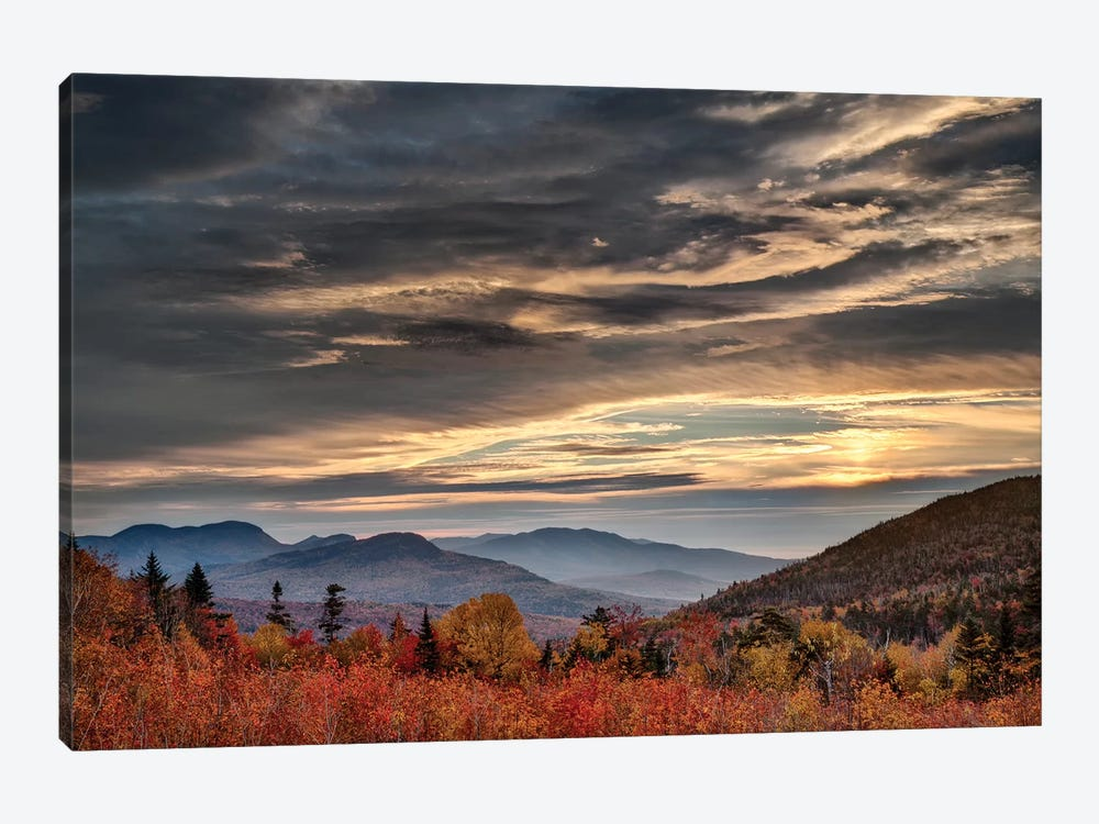USA, New Hampshire, White Mountains, Sunrise from overlook by Ann Collins 1-piece Canvas Artwork