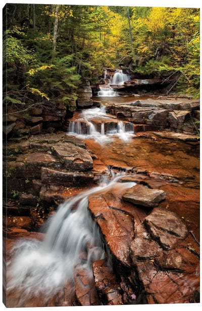 USA, New Hampshire, White Mountains, Vertical panorama of Coliseum Falls Canvas Art Print
