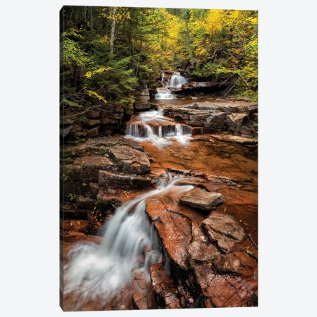 USA, New Hampshire, White Mountains, Vertical panorama of Coliseum Falls Canvas Print #ANC22} by Ann Collins Art Print