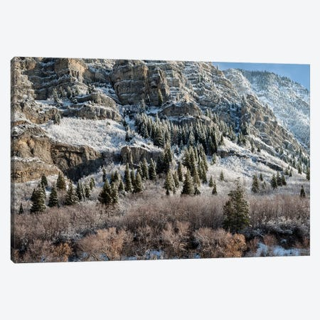 USA, Utah, Provo, Panoramic view of late afternoon light in Provo Canyon 3-Piece Canvas #ANC25} by Ann Collins Canvas Art