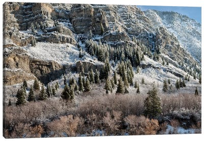 USA, Utah, Provo, Panoramic view of late afternoon light in Provo Canyon Canvas Art Print