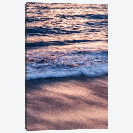 USA, California, La Jolla, Sunset color reflected in waves at Windansea Beach Canvas Print #ANC5} by Ann Collins Canvas Wall Art