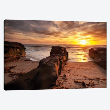 USA, California, La Jolla, Sunset, Coast Blvd. Park Canvas Print #ANC6} by Ann Collins Canvas Art